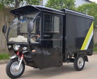 three wheel closed cabin Electric cargo tricycle Courier Motorcycle Cargo Bike/Tricycle for business delivery