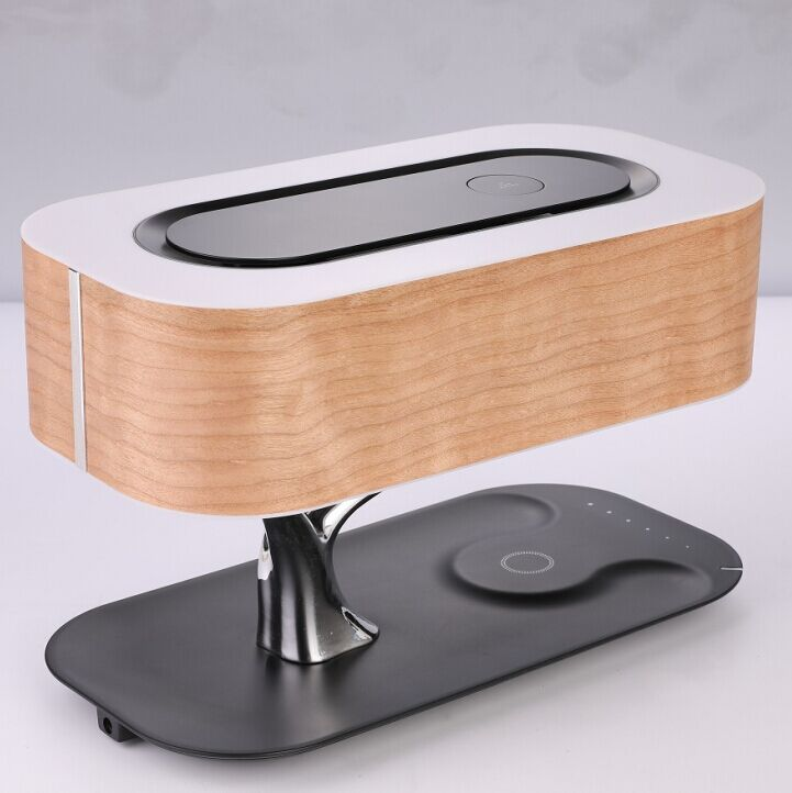Hot sales tree lamp with wireless charger and bluetooth speaker for hotel, home, bedroom, bedside light