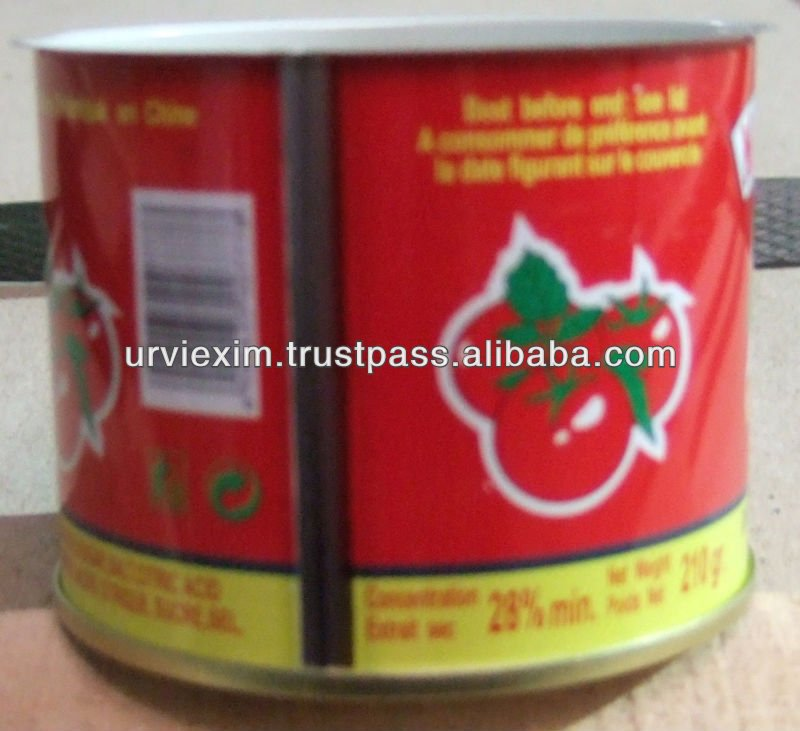 Tomato paste with all Packaging