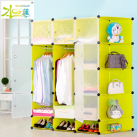 bedroom furniture storage wardrobe folding plastic cube
