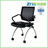 806-02 fabric seat stackable folding writing table chair for guestor