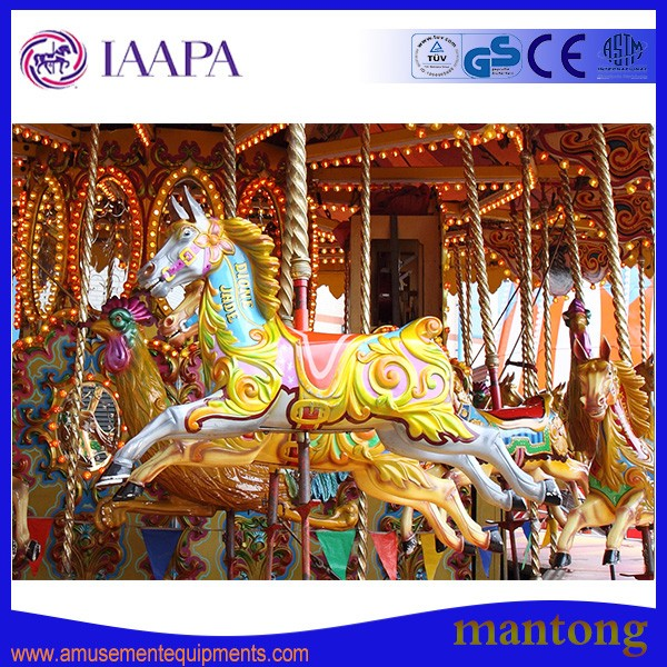 2016 popular carousel/merry go round/amusement park horse rides carousel for sale