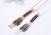 Seed Beaded Tassel Necklace ,Sweater Chain Accessories (SWTAA1633)