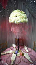 2016 hot sale transparent acrylic artical flower stand/wedding centerpiece for wedding table decoration