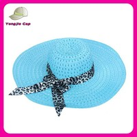 fashion ladies wide brim summer promotional cheap beach hat paper straw hat