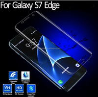 New Arival Full Transparent 9H 0.26mm 3D Curved Tempered Glass Screen Protector For Samsung Galaxy S7 Edge