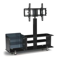 Hotel iron furniture led tv rotating tv stand