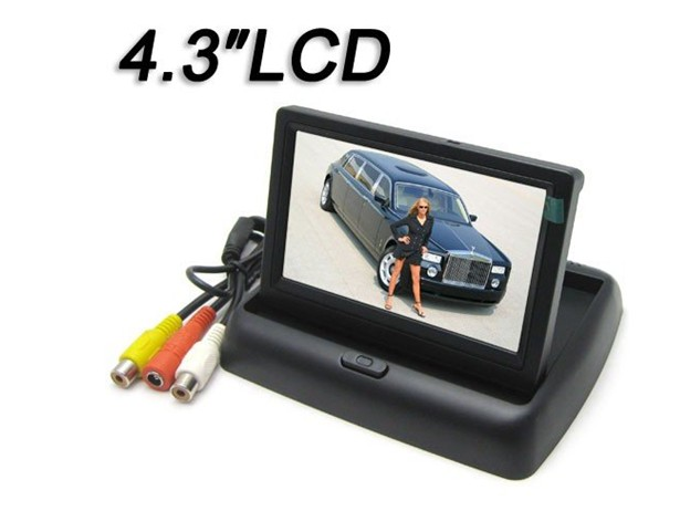 Hot selling 4.3 inch reverse car monitor with TFT LCD screen ,TV,DVD player ,Radio