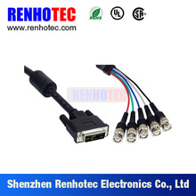High quality vga cable db15 male to 5 bnc male cable