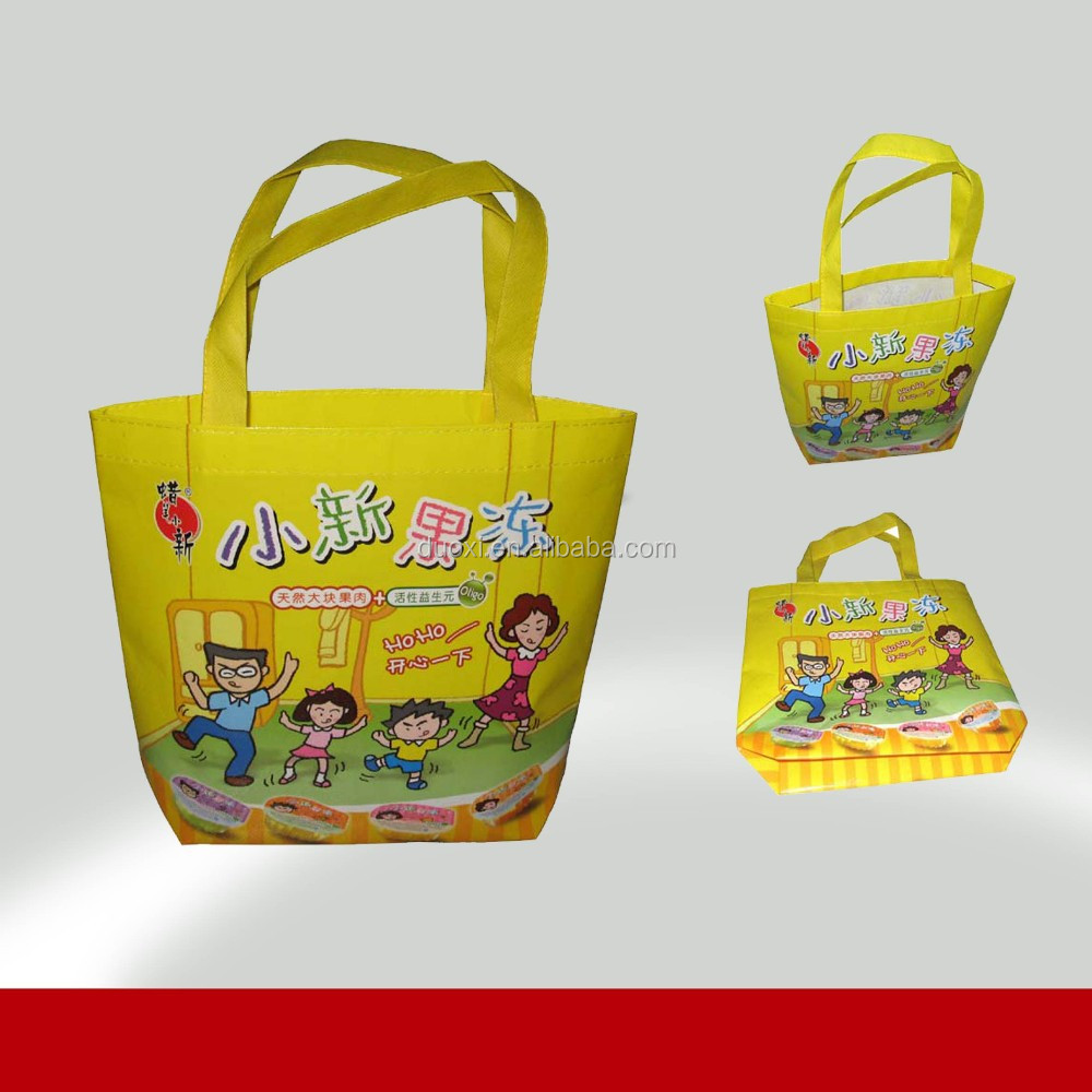 Cute PP Laminated Non Woven Bag for Kids Lovely shopping tote bags