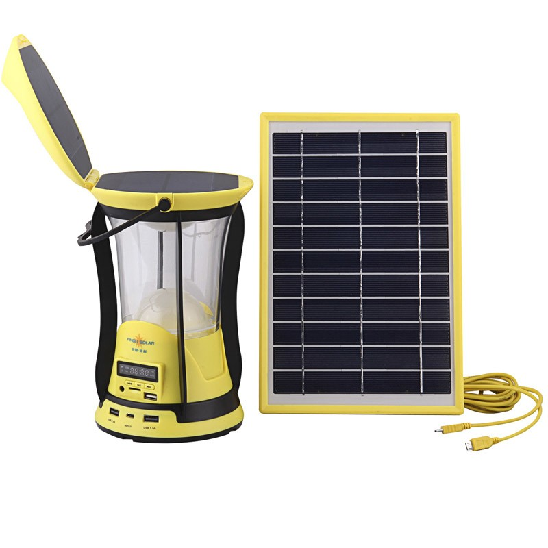 Rechargeable LED solar lantern with FM Radio,Solar camping Lantern