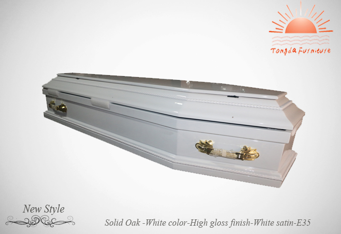 TD-E35 white colour coffin