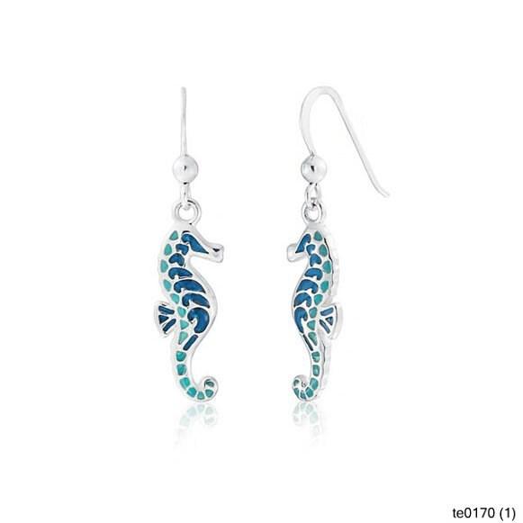 Fashion jewelry nautical blue turquoise color seahorse for Turquoise colored fashion jewelry