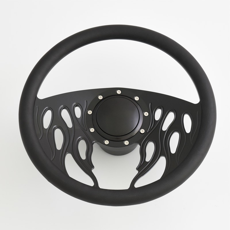 9 bolt Pattern 14inch Aluminum Steering Wheel with Horn Button Adapter