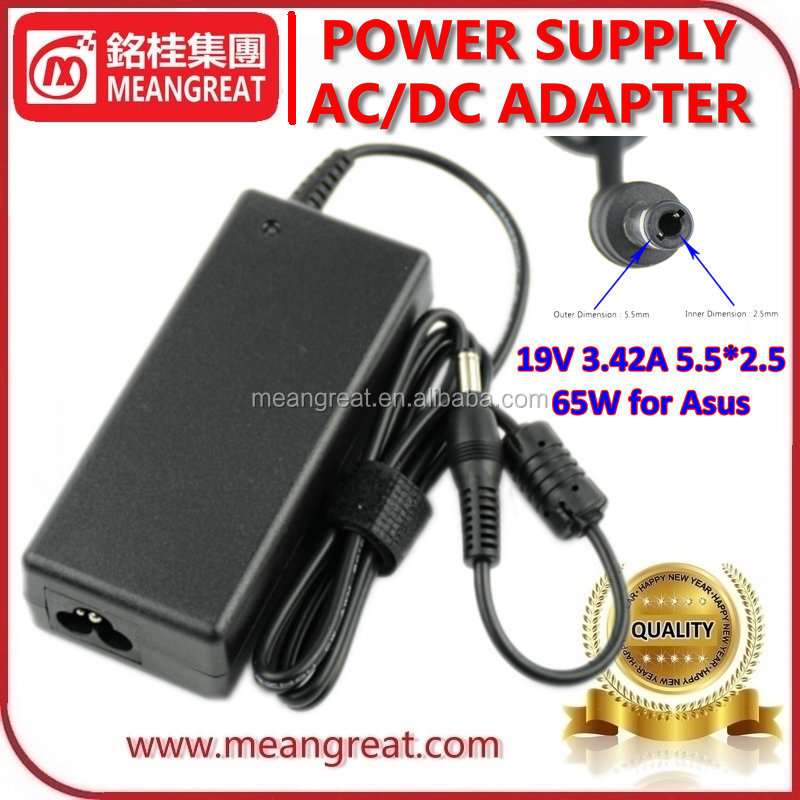 Meangreat Laptop Adapter For TOSHIBA/ASUS 19V 3.42A 65W 5.5*2.5mm