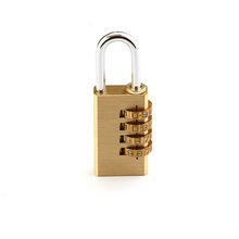Security 21/28 mm brass outdoor Die-Cast 4 digits brass combination padlock for Indoor