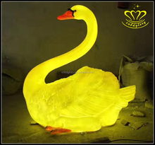 Christmas 3D fiberglass animal sculpture resin swan goose light for Night View decor