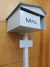 cheapest price powder coated galvanized steel letterbox with newspaper holder