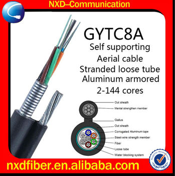 GYTC8A Stranded Loose Tube Figure 8 Self-Supporting Aerial GYTC8A Fiber Optic Cable