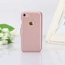 China suppliers luxury book folio rose gold wallet flip card holder leather kutis phone cover case for apple iphone 7/8 64gb