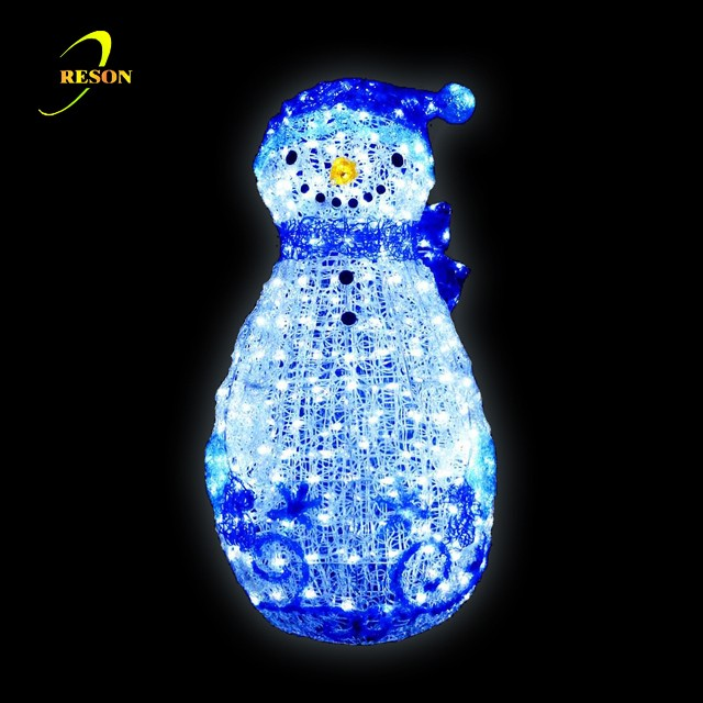 Indoor&outdoor Christmass Decorative 3D Acrylic Snowman Lights
