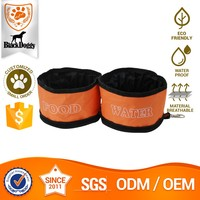 Custom-made Polyester Pet Travel Foldable Collapsible Food Grade Dog Bowl