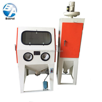 Dustless sand blast cabinet,glass bead blasting machine