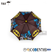 Tianshuo high quality folding gift automatic customized cheap rain wholesale print promotion personalized kid umbrella black