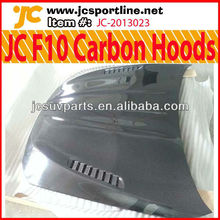 JC Style Carbon Hoods with Vents Car Engine Covers for BMW F10