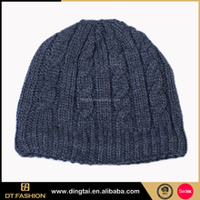 Customizable long men's knit slouch 100 acrylic beanie