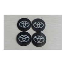 4PC Car Logo Black Car Decal 3D Car Wheel Sticker