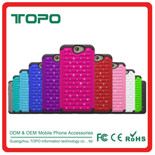 [TOPO] New 2 in 1 Bling Diamond Hybrid Silicone + PC Armor Cell Phone Covers Cases Case for HTC A9