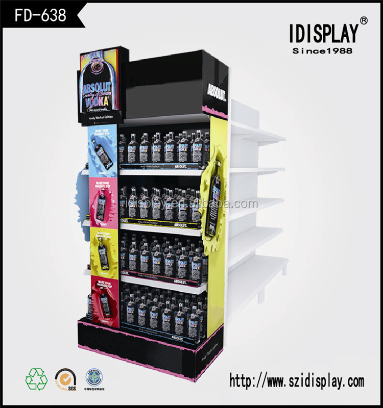 Point of sale display advertising soft drinks display