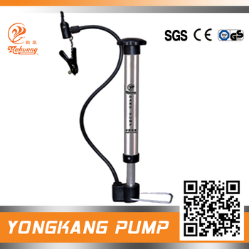 Aluminum cast mini concrete mixer pump with plastic handle and foot plate for balls