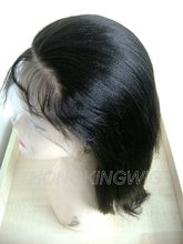 halle berry short style brazilian virgin hair full lace wig with high quality