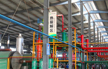 Tire Pyrolysis oil plant henan, used tire recycling equipment with CE