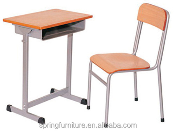 CT-337 new school furniture used school desk chair school single seater desk and chair
