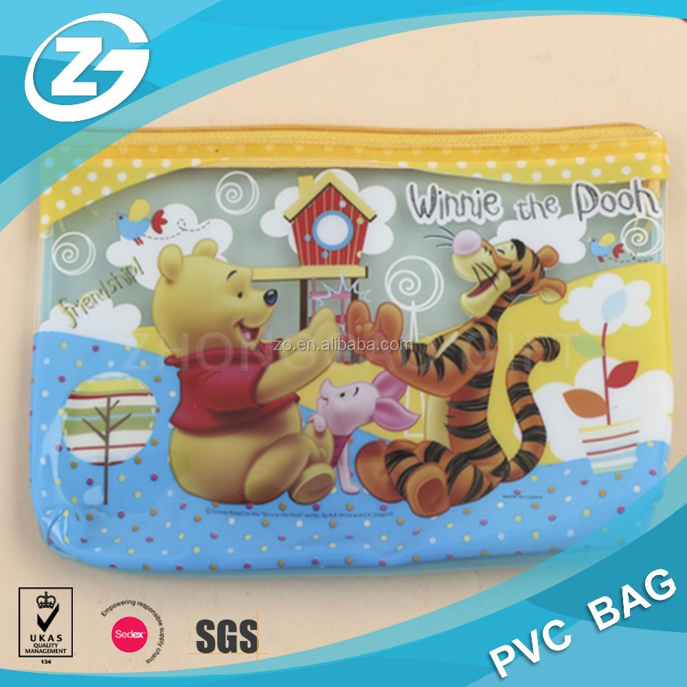 customized printing PVC packaging plastic zip bag