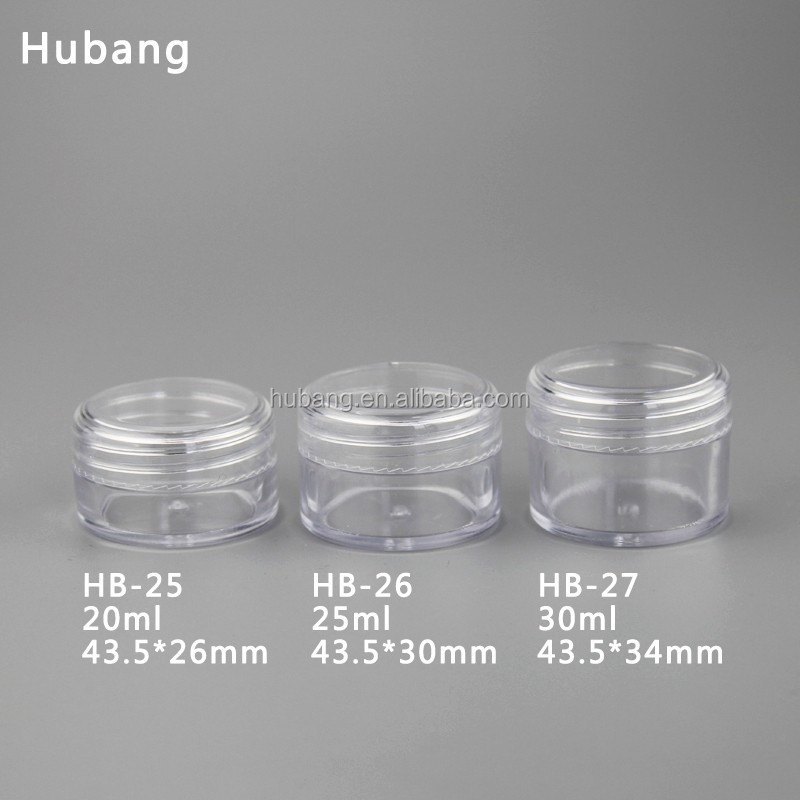 Hot sale cheap custom-made round 20g 25g 30 ml PS plastic empty cosmetic jar