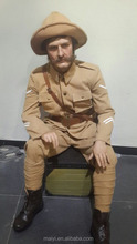 England soldier lifesize silicone wax figure