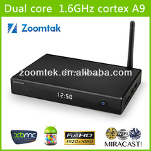 Full loaded xbmc13.2 preinstall Android 4.2. tv box zoomtak M6 amlogic 8726 MX media player set top box