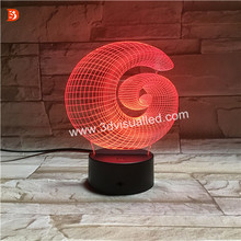 Newest Creative LED Night Light 3D Illusion Table Lighting Lamp