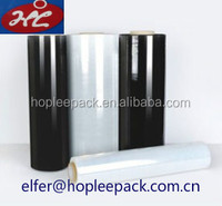 clear/ black plastic LLDPE stretch film for industrial manual/ machine usage
