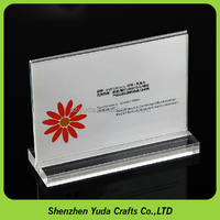 Business card display holder perspex price tag landscape 4x6 counter magnetic sign holder