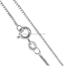 2017 factory 925 sterling <strong>silver</strong> wholesale 0.7mm 1mm thickness delicate <strong>silver</strong> box chain necklace