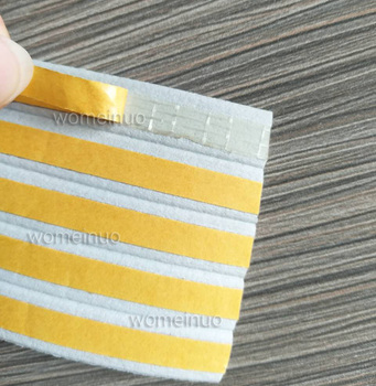 Multifunctional White D-type adhesive sealing rubber strip for door and window