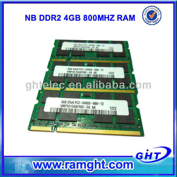 Sell computer scrap ET chips sodimm ddr2 4gb memory ram