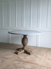 Distressed furniture easy assembly solid wood concrete dining table