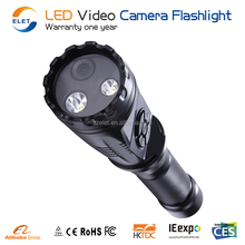 Professional 1.5inch LCD LED Video Camera Flashlight torch DVR 1000lm portable 3 Modes torch for Camping, Security, Tactical