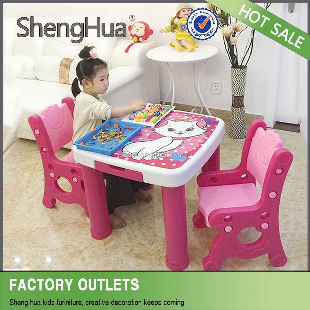 Popular assemble adjustable children Study Table and Chairs Kids Furniture Made in China